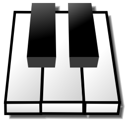 Piano Keyboard Icon Image PNG Format