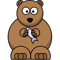 Grizzly Bear Icon PNG Format