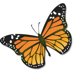 Monarch Butterfly Illustration Image PNG Format