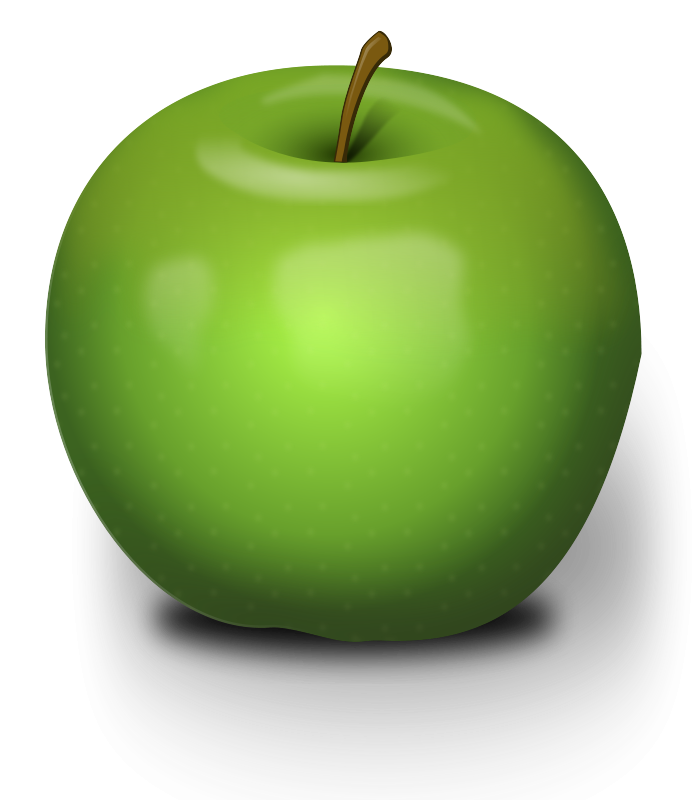 Green Apple Icon Image PNG Format