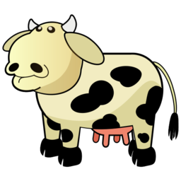 Cow Illustration Clipart PNG Format