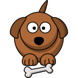 Dog with Bone Icon Image PNG Format
