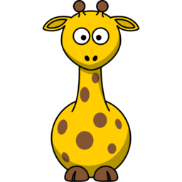 Giraffe Ilustration Icon Clipart PNG Format