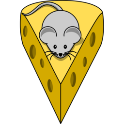 Mouse with Cheeze Image Illustrated PNG Format
