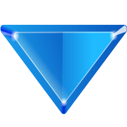 Blue Down Arrow Image PNG Format
