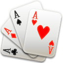 Four Aces Playing Card Icon PNG Format