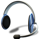 Headset with Microphone Icon PNG Format
