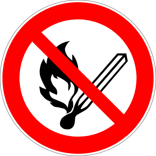 No Open Flame Sign Image PNG Format