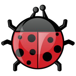 Ladybug Icon Illustration PNG Format