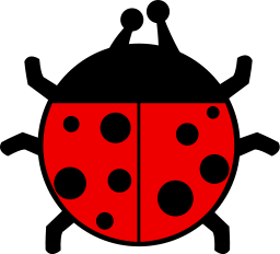 Ladybug Icon Illustration 2 PNG Format
