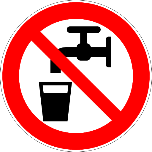 Do Not Drink Water Sign PNG Format