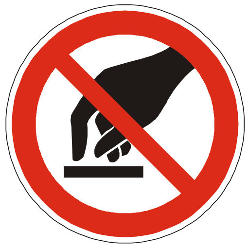 Do Not Touch Warning Sign PNG Format