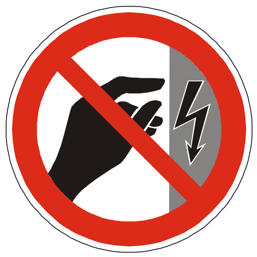 Do Not Touch Power Hazard PNG Format