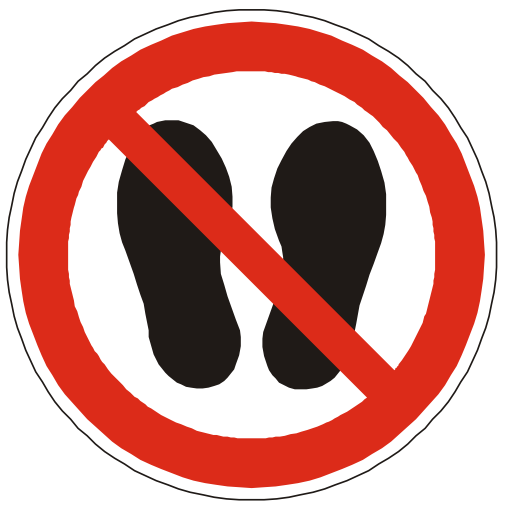 No Step Allowed Sign PNG Format