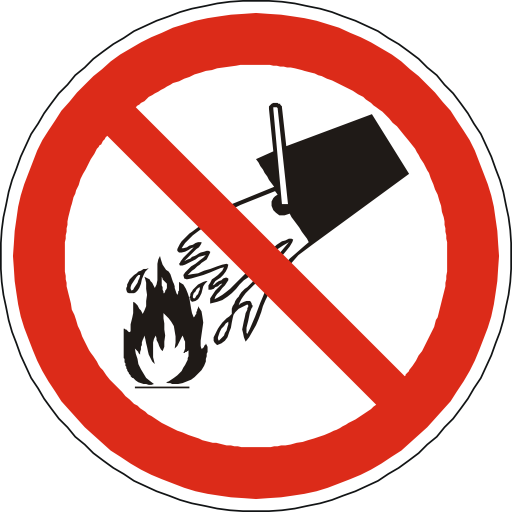 No Water On Fire Sign PNG Format