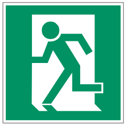 Green Exit Left Safety Sign Download