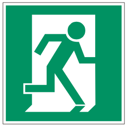 Green Exit Right Safety Sign Download