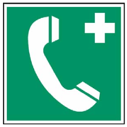 Green Telephone Safety Sign Download