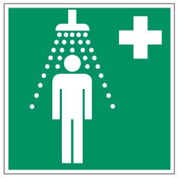 Green Shower Safety Sign Download