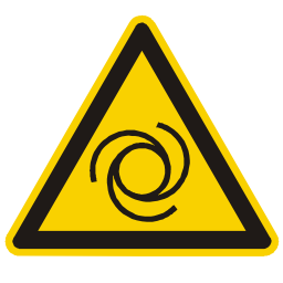 Automatic Re-engagement Hazard Sign PNG Format