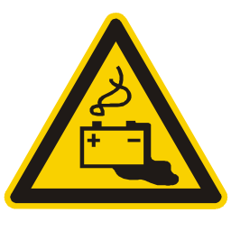 Battery Fumes Hazard Sign Download