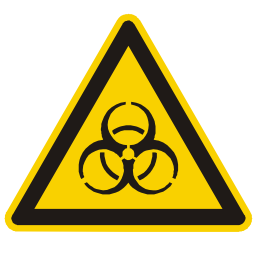 Bio Hazard Warning Sign PNG Format