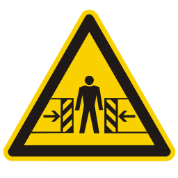 Crushing Hazard Sign PNG Format