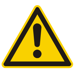 General Warning Hazard Sign Image PNG Format