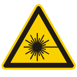 Laser Hazard Sign PNG Format