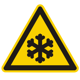 Low Temperature Hazard Sign PNG Format
