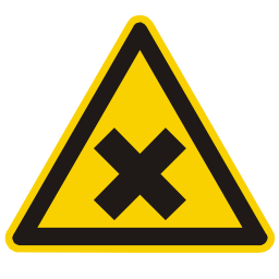Noxious Gas Hazard Sign PNG Format