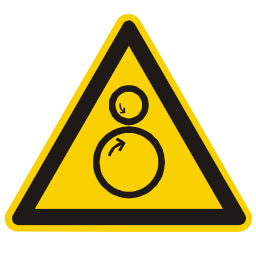 Rotating Cylinder Hazard Sign Download
