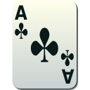 Ace of Clubs Icon PNG Format