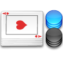 Poker Chips and Cards Icon PNG Format