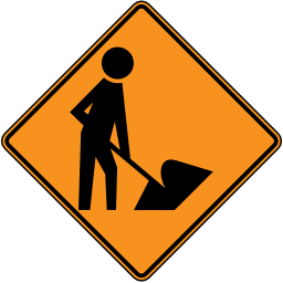 Construction Ahead Sign Image PNG Format