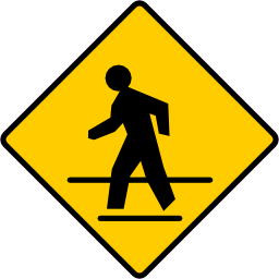 Pedestrian Crossing Sign Image PNG Format