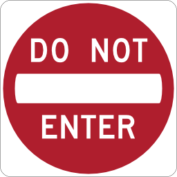 Do Not Enter Sign Image PNG Format