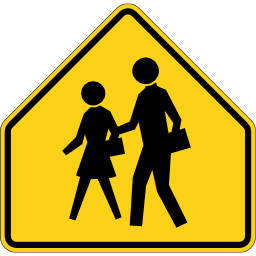 School Crossing Sign Image PNG Format