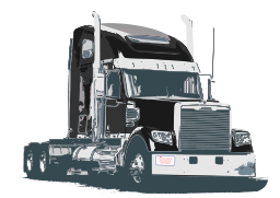 Semi Trailer Truck Clipart Image PNG Format
